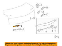 Cadillac GM OEM 06-11 DTS Trunk Lid-Emblem Badge Nameplate 25759441