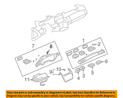 GM OEM Instrument Panel Dash-Side Cover Retainer 22551452