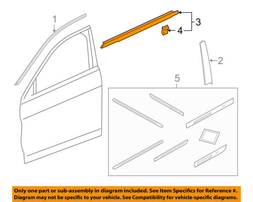 Genuine Honda Belt Molding 72450-T2F-A01