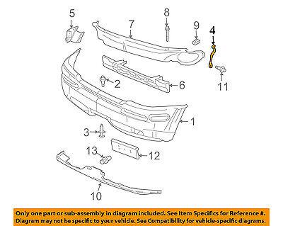 Chevrolet GM OEM Trailblazer Front Bumper-Bumper Cover Brace Right 15787494