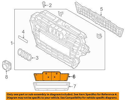 AUDI OEM Q5 Front Bumper Grille Grill-License Bracket Mount Panel 8R0807285MT94