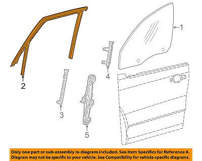 FIAT OEM 14-17 500L Front Door-Run Channel Left 68202097AA