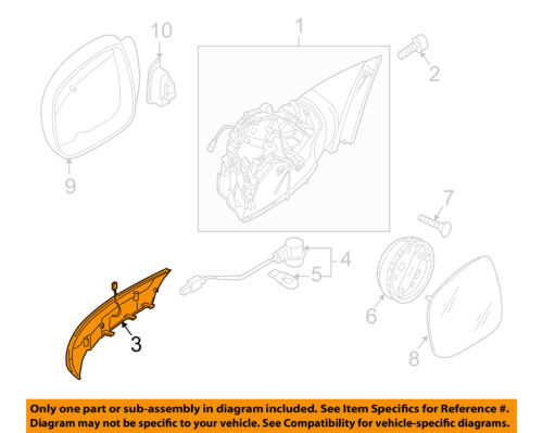 VW VOLKSWAGEN OEM Outside Mirrors-Front Door-Signal Lamp Right 7L6949102C