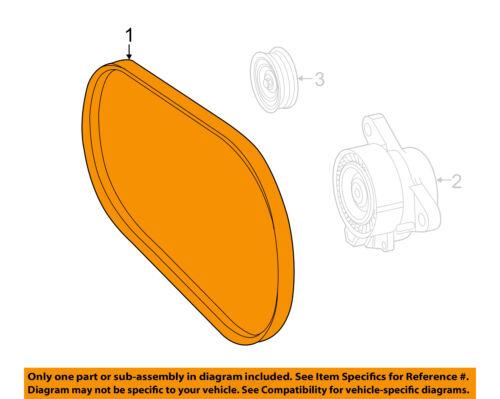 Mercedes MERCEDES-BENZ OEM 2015 CLS400-Serpentine Drive Fan Belt 0039938596