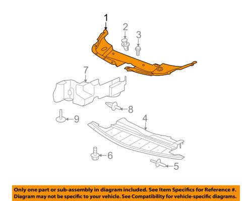 OEM GM Radiator Core Support Lower Splash Shield Bolt Cadillac Chevrolet GMC