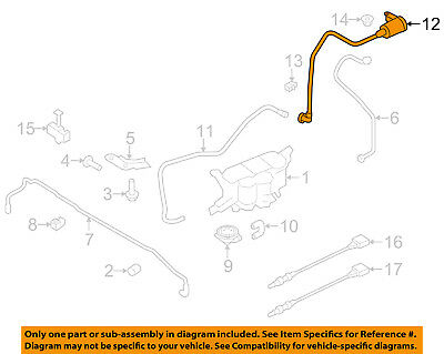 AUDI OEM 10-17 A5 Quattro 2.0L EMISSION SYSTEM-Hose & Tube Assembly 8K0201997AM