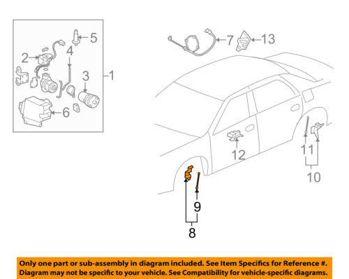 GM OEM Ride Control-Rear Leveling Rear Sensor 25999464