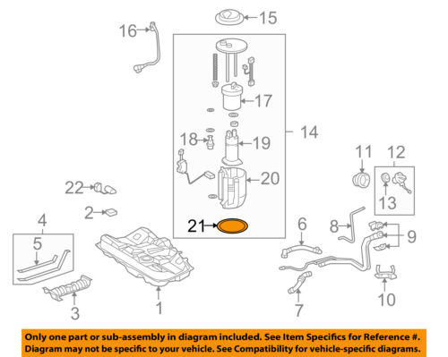 Genuine Toyota Fuel Pump Assembly Gasket 77169-02050