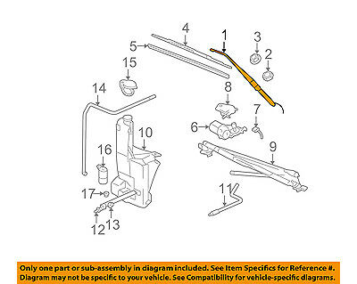 Left Wiper Arm - GM OEM Wiper Washer-Windshield-Wiper Arm Left 15761497