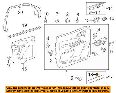 GM OEM Door-Handle Bezel Retainer 11610511