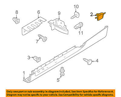 AUDI OEM 08-15 TT Quattro Exterior-Rocker Molding Clip 8J0853909