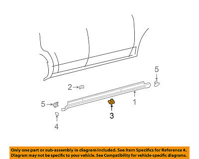 FORD OEM Exterior-Rocker Panel Molding Retainer 6G1Z5410182A