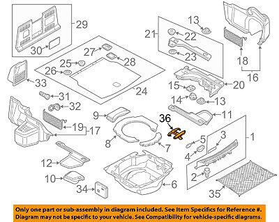 AUDI OEM 04-17 A8 Quattro Interior-Rear-Retainer 6Y5867615CQTC