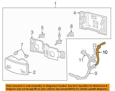 GM OEM-Headlight Headlamp Socket 12101897