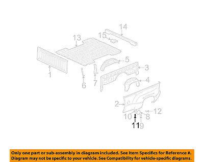 GM OEM Rear Fender Panel-Bed-Fuel Door Gas Cap Hatch Spring 15521575