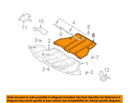 4B0863822L AU1228118 New Engine Splash Shield Rear Audi A6 Quattro S6 2002-2003
