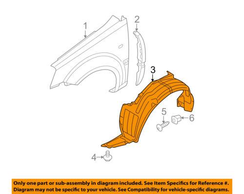 Front Right Fender Inner Liner Splash Wheel Guard Passenger for Accent 2012-2014