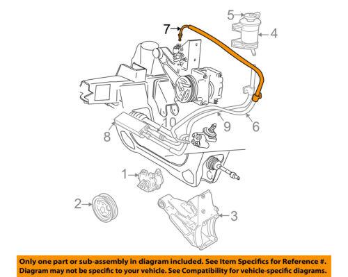 FORD OEM 1995 Explorer-Power Steering Return Hose F57Z3A713AC