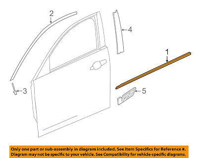 Cadillac GM OEM ATS-Door Window Sweep-Belt Molding Weatherstrip Right 22970642