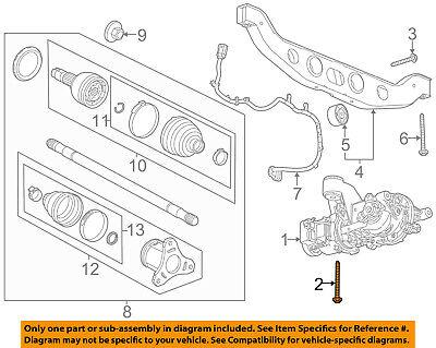 GM OEM Rear Suspension-Differential Assembly Upper Bolt 11609610