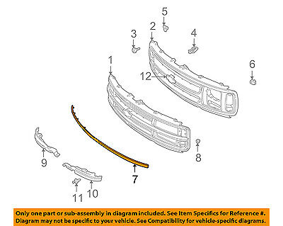 Chevrolet GM OEM 96-02 Express 2500 Grille-Lower Molding Trim 12376104