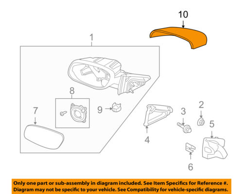 FORD OEM Taurus Door Side Rear View-Mirror Cover Cap Trim Right AG1Z17D742AA