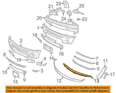 NEW OEM 2002-2008 Mini Cooper S Front Bumper Lower Trim 51111504252 R52 R53
