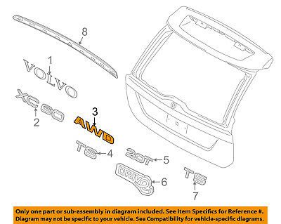 VOLVO OEM 02-09 S60 Trunk Lid-Emblem Badge Nameplate 9157130