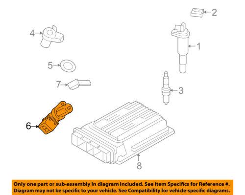 bmw oem    engine crankshaft crank position sensor cps  ebay