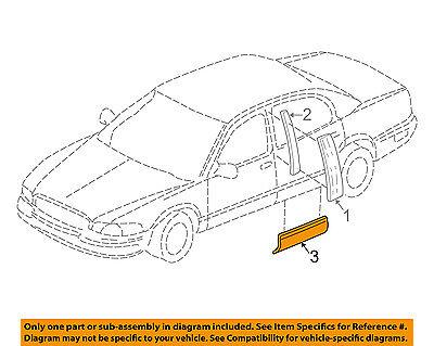 Buick GM OEM 97-05 Park Avenue REAR DOOR-Body Side Molding Right 12374668