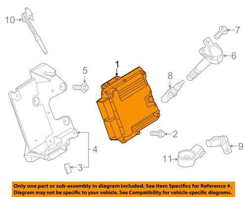 FORD    OEM 2015    Mustang      ECM    PCM ECU    Engine Control Module