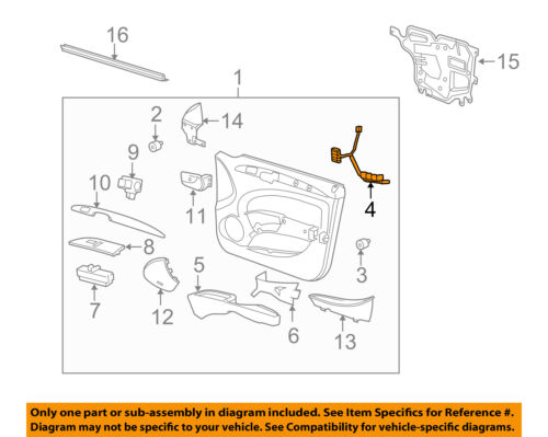 Buick Gm Oem 0607 Lucerne Front Doorwire Harness Left 15891607 Ebayrhebay: 2006 Buick Lucerne Door Wire Harness Further At Gmaili.net