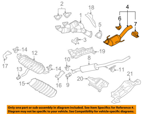 vw volkswagen oem 04 06 touareg 3 2l v6 exhaust system front pipe4 on diagram only genuine oe factory original item
