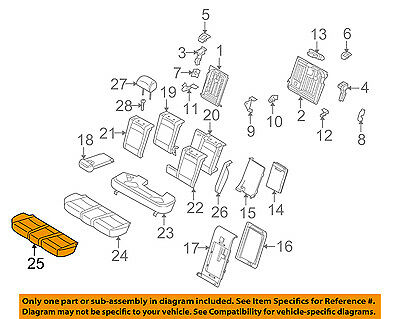 BMW OEM 10-13 X5 Second Row Back Rear Seat-Lower Cover 52207232987