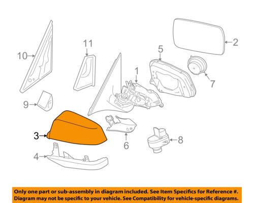 VW VOLKSWAGEN OEM Door Side Rear View-Mirror Cover Cap Trim Right 5G0857538EGRU