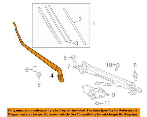 Mazda KD51-67-321A Windshield Wiper Arm