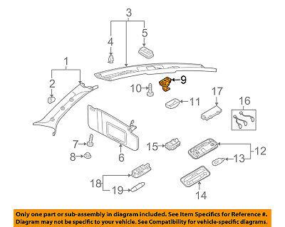 AUDI OEM 10-17 S5 Interior-Roof-Bracket 443857561H4PK