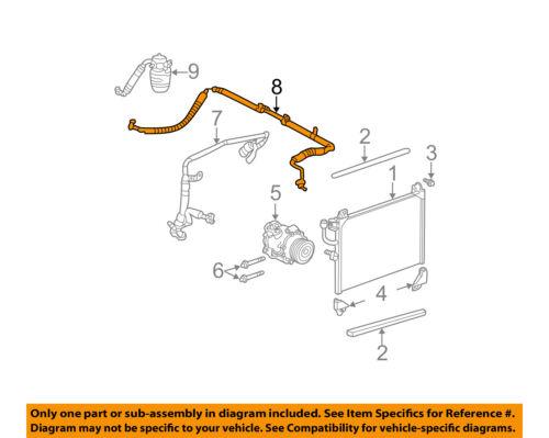 gm oem a c condenser compressor line ac evaporator tube. Black Bedroom Furniture Sets. Home Design Ideas
