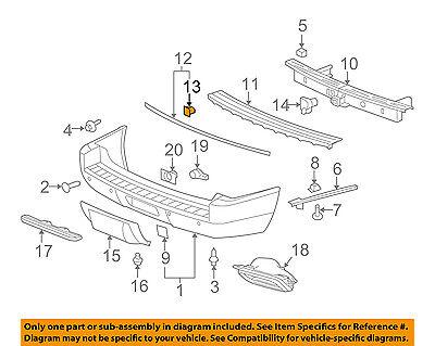 GM OEM Rear Bumper-Molding Clip 11561857