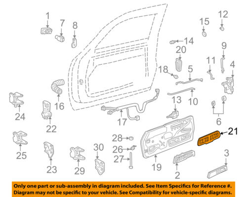 GM OEM Front Door-Rod Left 15759047