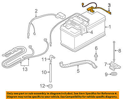 BMW OEM 07-13 328i Battery-Negative Cable 61127616200 **IMPORTANT...READ DESC
