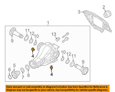 AUDI OEM 04-17 A8 Quattro Axle Differential-Rear-Plug N10037105