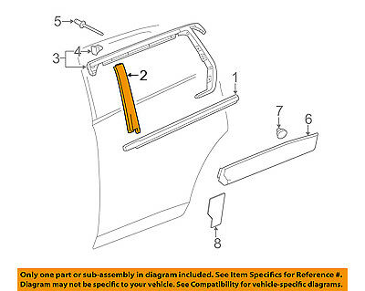 GM OEM Exterior-Rear-Applique Window Trim Right 22760519