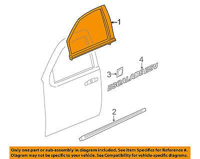 Cadillac GM OEM 11-14 Escalade Front Door-Reveal Molding Left 20972289