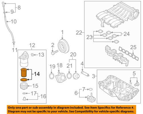 VW VOLKSWAGEN OEM 14-17 Touareg Engine-Oil Filter 03H115562 | eBay