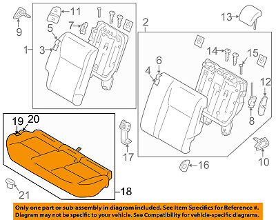 NISSAN OEM 2016 Juke Rear Seat-Cushion Assembly 883004DP2D