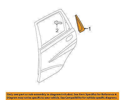 GM OEM Exterior-Rear-Trim Molding Left 96585538