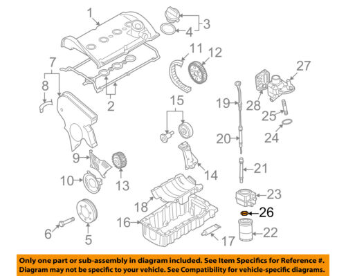 Vw Volkswagen Oem Jetta 9399 Piezas Del Motorstud Tuerca 068115723 Rhebay: Vw Oem Parts Diagram At Cicentre.net