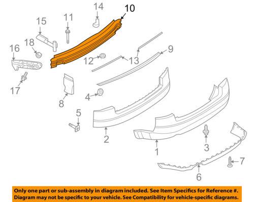 AUDI OEM 02-05 A4 Quattro Rear Bumper-Impact Reinforcement Bar Rebar 8