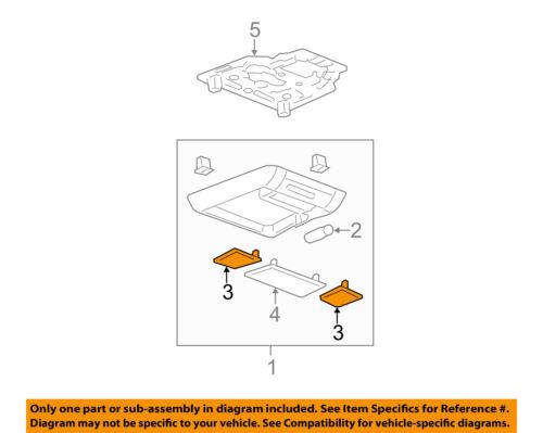 GM OEM Overhead Roof Console-Light Lens 15853942
